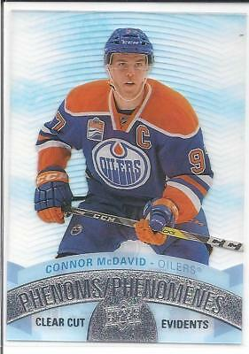 CONNOR MCDAVID 2017-18 Tim Hortons Upper Deck CLEAR CUT PHENOMS #CCP-1