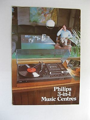 Philips 3 in 1 Music Centre FOLD OUT BROCHURE