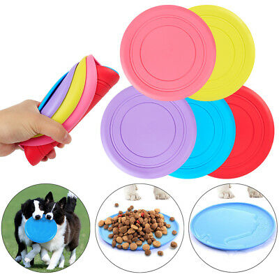 Soft Dog Frisbee Toy Silicone Pet Race Training Throwing Pet Flying Disc Toys