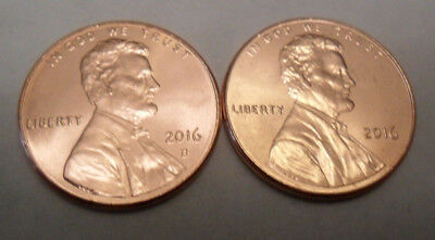 2016 P & D Lincoln Shield Cent / Penny Set   **FREE SHIPPING**