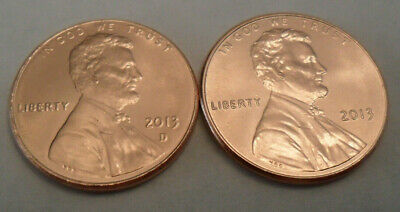 2013 P & D Lincoln Shield Cent / Penny Set (2 Coins)  **FREE SHIPPING**
