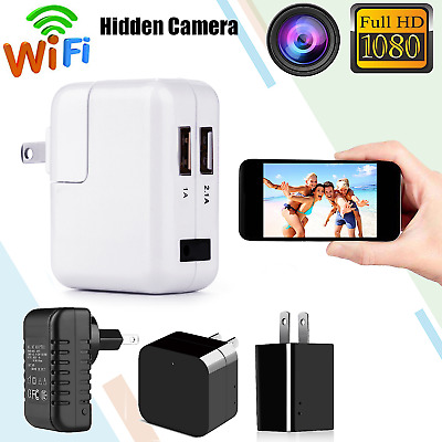 WiFi HD 1080P Wireless SPY Camera Hidden USB Wall Charger Cam Recorder Adapter