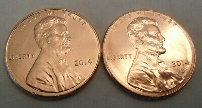 2014 P & D Lincoln Shield Cent / Penny Set (2 Coins)  **FREE SHIPPING**