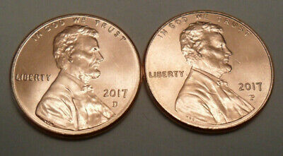 2017 P & D Lincoln Shield Cent / Penny Set (2 Coins)  **FREE SHIPPING**