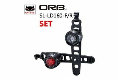 Black Cateye ORB SL-LD160 Bicycle Headlight /& Tail Light Set Front /& Rear