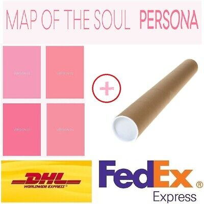 BTS MAP OF THE SOUL:PERSONA Album 4Ver SET CD+Photobook+photocard+Poster Express