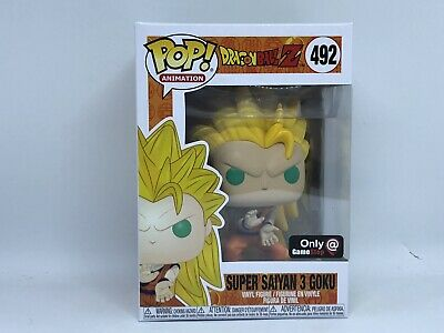 Funko Pop! Animation Super Saiyan 3 Goku #492 Dragon Ball Z Gamestop Exclusive