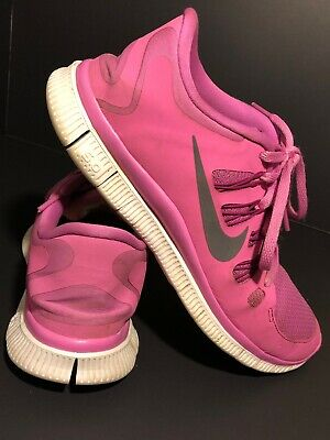 quality design c6f02 8349c Womens Size 9 Nike Free 5.0 Running Shoes Pink White Grey