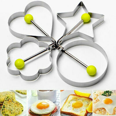 Fried Egg Non Stick Stainless Steel Pancake Ring Mold Cooking Kitchen Tools US