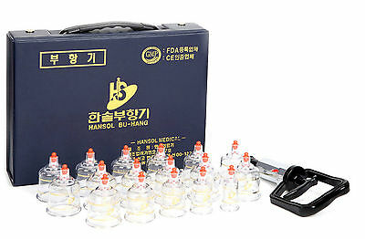 Acupuncture Cupping Set 17 Cups Massage Acupuncture Health Vacuum Therapy Hansol_ic