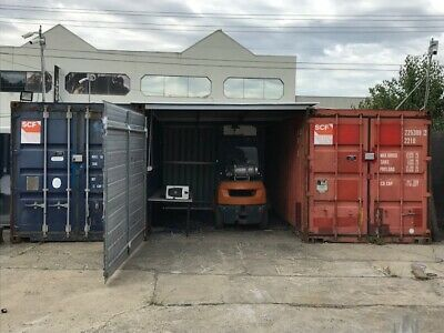 Shipping Containers x 2 and attached shed with swing gate