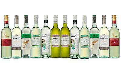 AU Best Seller Mixed Branded White Wine Pack  12 x 750mL FAST & FREE SHIPPING