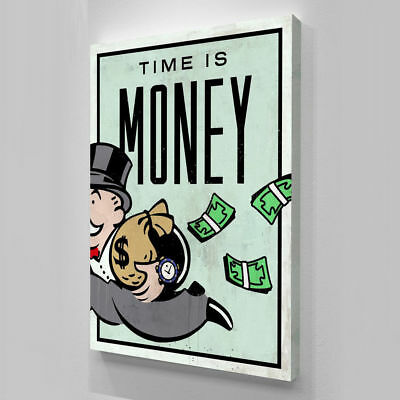 Alec Monopoly Hand-Painted Oil Painting on Canvas art wall decor Time Is Money
