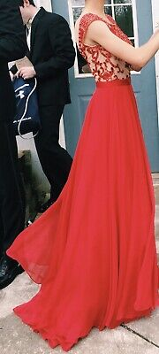 BEAUTIFUL SHERRI HILL red prom dress size