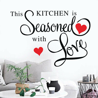 This Kitchen Wall Stickers Removable Wall Stickers Decor Art Warm Home DIY Decal