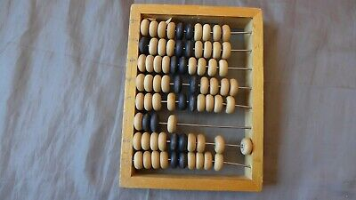 Vintage RUSSIAN USSR Soviet Wooden calculator mini size abacus 80s