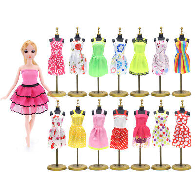 10x Fashion Handmade Dresses Clothes For Barbie Doll Style Random Girl Gift toy