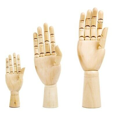 Hand Model Wooden Mannequin Movable Fingers Artist Drawing Sketch Tool Decor 1x
