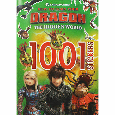 How to Train Your Dragon - The Hidden World - 1001 Stickers, Brand New