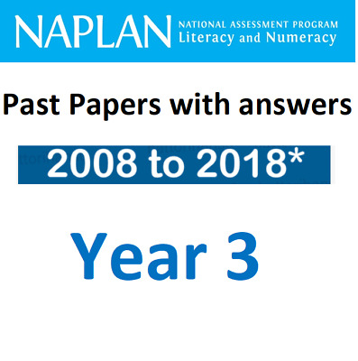 NAPLAN Year 3 Past Papers Set - from 2008 to 2018* (total 9 papers)