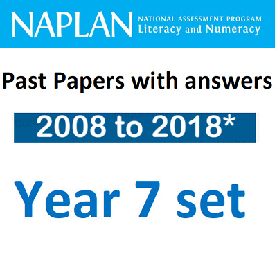 NAPLAN Year 7 Official Past Papers Set - 2008-2018*