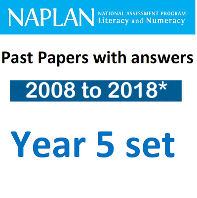 NAPLAN Year 5 Past Papers Set - from 2008 to 2018* (total 9 papers)