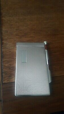 VINTAGE ENGINE TURNED 1940s-50s . METAL NOTEPAD
