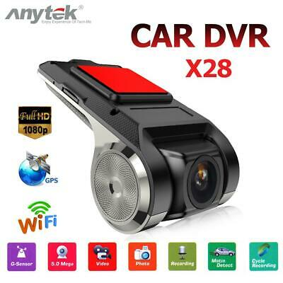 Anytek X28 FHD 1080P WIFI WIFI GPS Coche DVR Cámara G-Sensor ADAS Video Dashcam