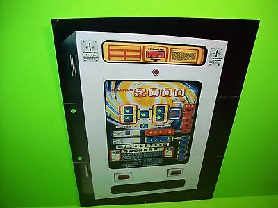 Hellomat Automaten 2000 Original Slot Machine Promo Sales Flyer German Text Rare