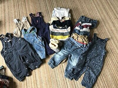 Bundle Of Boys Clothes 12-18 Months Lots Of Dungarees, Next , m&S And Brands