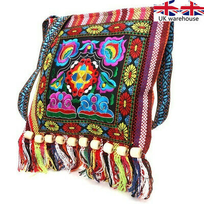 Vintage Embroidered Shoulder Bags Women's Handmade Bohemia Flowers Embroidery