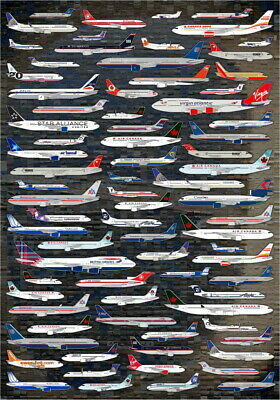 planes aircraft aero Vintage art painting  Poster Print for Glass Frame logos