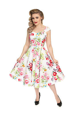 Hearts /& Roses Kids 50/'s Grey Vintage Pink Retro Floral Party Girls Swing Dress