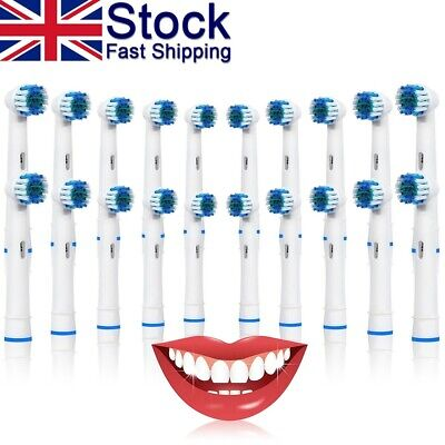 20x Toothbrush Heads Compatible With Oral-B Vitality Rechargeable Power Brush UK