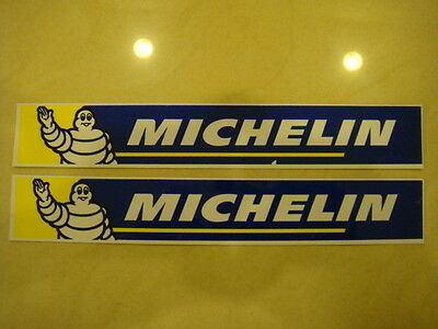 Pair of large 20.5x3cm MICHELIN horizontal text logo stickers (Free S/H)