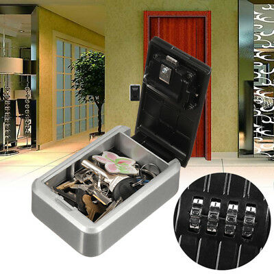 4 Digit Outdoor High Security Wall Mounted Key Safe Box Code Safe