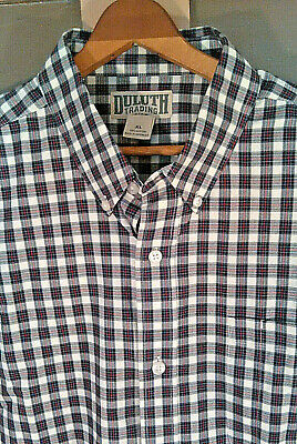 834541a43f5 DULUTH TRADING CO Wrinkle Fighter Shirt Long Sleeve NEW Men XXL Tall ...