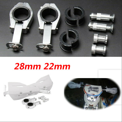 "7/8"" 22mm&1 1/8"" 28mm Motorcycle Handlebar Protection Handguard Handle White Set"