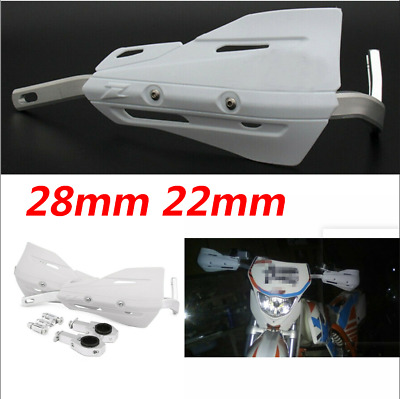 Motorcycle ATVs 28mm 22mm Handlebar Protection Handguard White Set