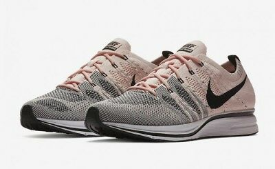 d9a3194a1180 Nike Men s Flyknit Trainer Sunset Tint Black Pink White AH8396 600 Size 10