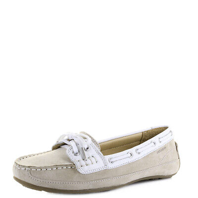 e837342c261b5 NEW WOMENS SIZE 7 SEBAGO Bala Taupe Suede White Moccasin Deck Boat ...