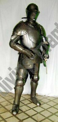Antique Medieval Suit of Armor 17th Century Combat Full Body Armour W Base ws7