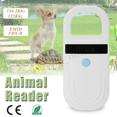 RFID ISO FDX-B EMD Animal Chip Dog Reader Microchip Handheld Pet Scanner UK