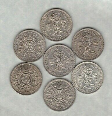 Seven Florins Dated 1939 To 1967 In Near Extremely Fine Or Better Condition