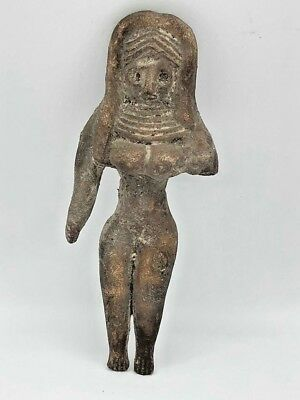 ANCIENT TERRACOTTA FERTILITY IDOL INDUS VALLEY HARAPPAN  Rare!! CIRCA 2200-1800B