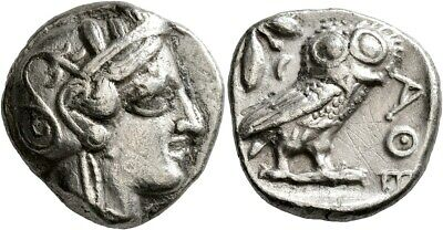 Greece Greek Attica Athens Tetradrachm Silver Owl Athena Authentic Ancient Coin