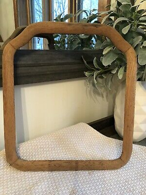 Antique Victorian Vtg Wedding Farmhouse  Picture Frame Raw Oak Wood Chalkboard