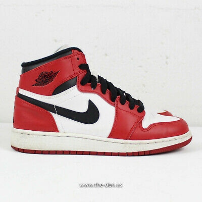 taille 40 7ffed b04ba NIKE AIR JORDAN 1 I Retro High OG Chicago 2013 Size 4.5Y GS 332558-163  Banned
