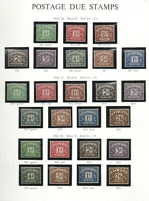 GB 1914-1969 complete set Postage Dues SGD1-D76 lightly mounted mint fine