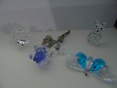 Balmoral Crystal Animal Butterfly Bear Hedgehog or Rose Mothers Day Gift New